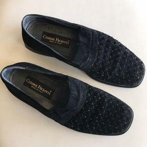 cesare paciotti suede mesh shoes Sz 9